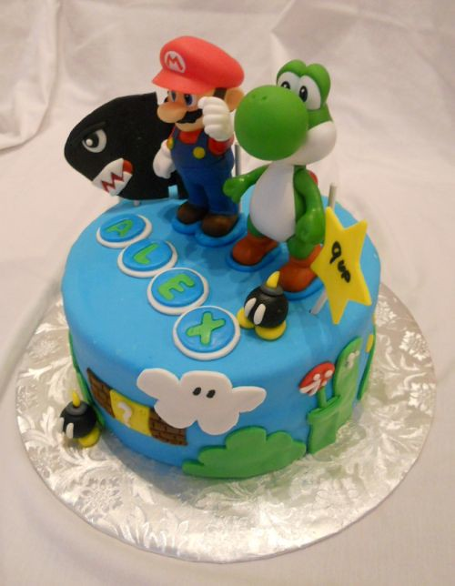 Stupendous Super Mario Bros Birthday Cake Delivery To New York City Flickr Birthday Cards Printable Riciscafe Filternl