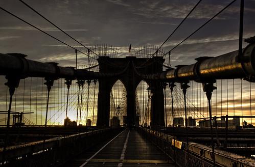 "nyc bridge sunset ny newyork brooklyn sunrise puente nikon manhattan nuevayork eeuu 10faves imagepoetry d80 golddragon ""simplystunningshots"" oracope"