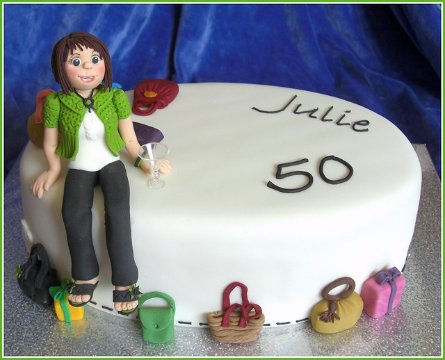 Julie's 50th - the accessory queen!