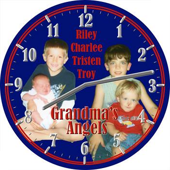 Grandchildren Family Clock | by customclockface