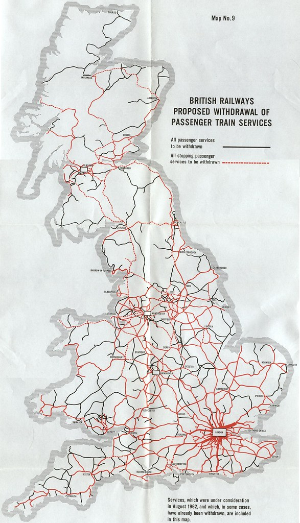 Map Of Uk Train Lines.Map Of British Rail Lines That Were Planned To Be Closed I Flickr