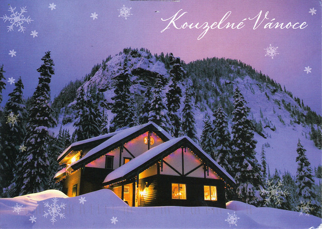 House In the Snow Postcard