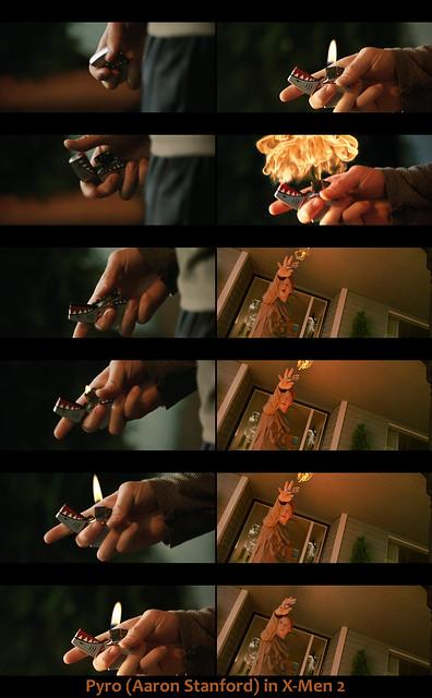Pyro dans X-Men 2