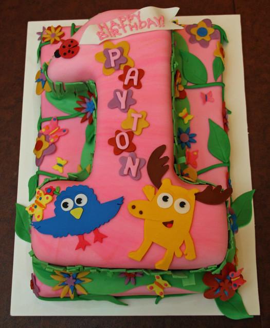Moose & Zee Cake - Pink Garden