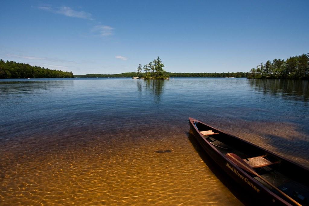 Mad River Canoe-1569 | Lunch break today on Lake Massabesic