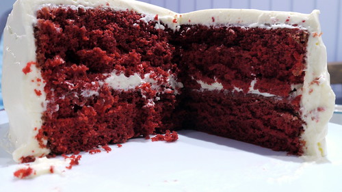 Day One Hundred and Sixty Six - Red Velvet Cake Cut | by Yortw