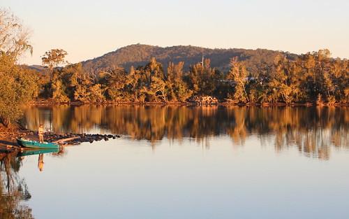 sunset water river fishing outdoor australia nsw macksville midnorthcoast nambuccariver