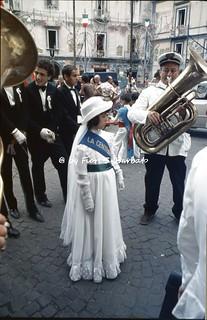Napoli (NA), 1976, Processione di San Vincenzo al Rione Sanità.