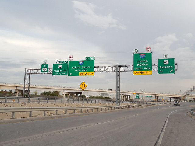 I 110 Signs to Mexico