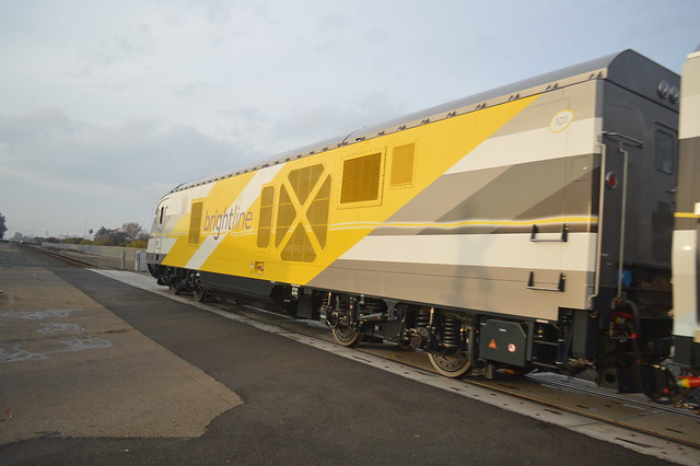 Siemens Brightline Train in Manteca