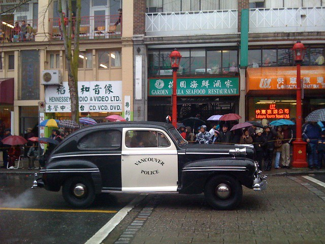 Old Vancouver Police Car during the 2009 Chinese New Year Parade