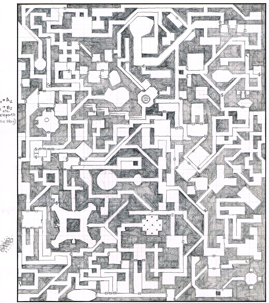Dungeon Map on
