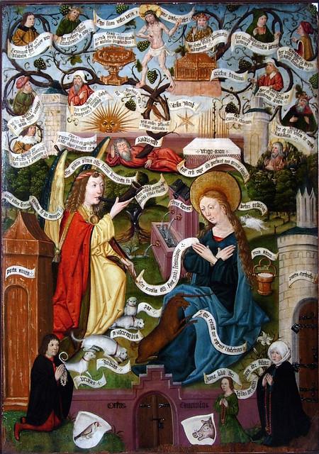 Annunciation as unicorn hunt & genealogy of Christ