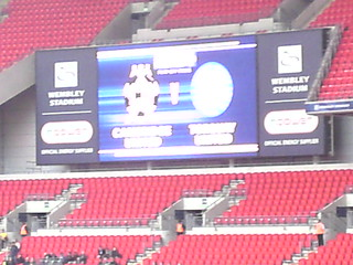 Electronic Score Board Prior To The Match