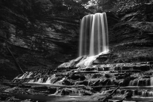 longexposure blackandwhite bw white black water flow waterfall falls abrams abramsfalls