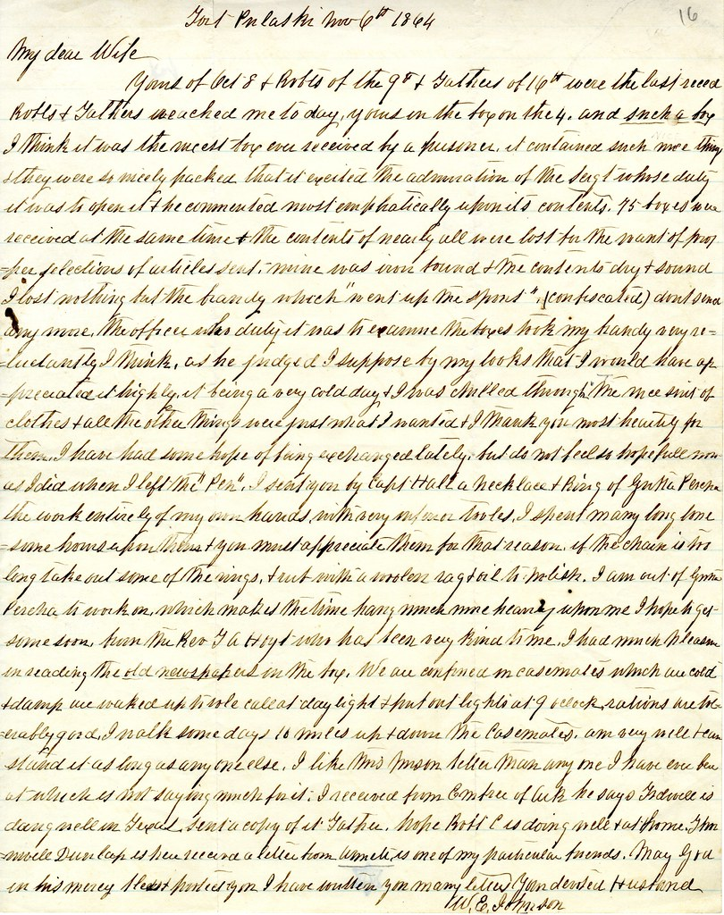 W.E. Johnson to wife, Ann Johnson; November 6, 1864 | Flickr