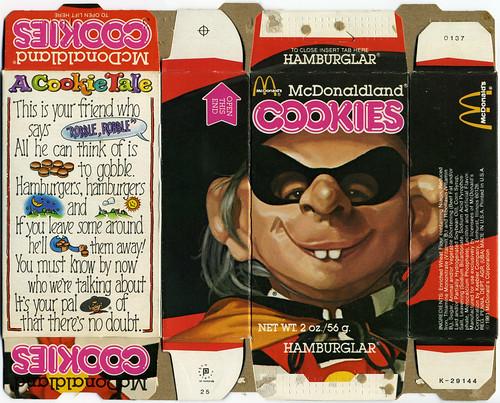 McDonald's - McDonaldland Cookie box - Hamburglar - 1981   by JasonLiebig