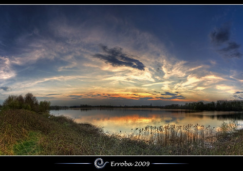 sunset sky panorama lake water clouds photoshop canon reflections rebel belgium belgique tripod belgië sigma naturereserve tips remote 1020mm erlend hdr mechelen cs3 3xp photomatix tonemapped tonemapping xti 400d hetbroek erroba robaye erlendrobaye