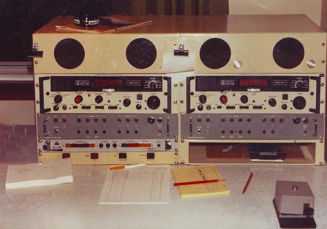 Morse Code Radio Console, Awarua Radio/ZLB circa 1982