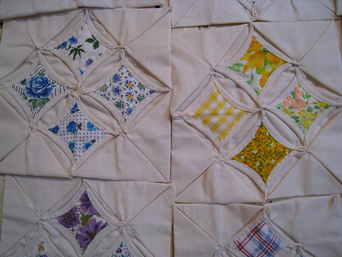 Catherdral Quilt Squares from Grandma | by katy elliott