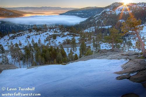 california fog sunrise donner truckee donnerlake
