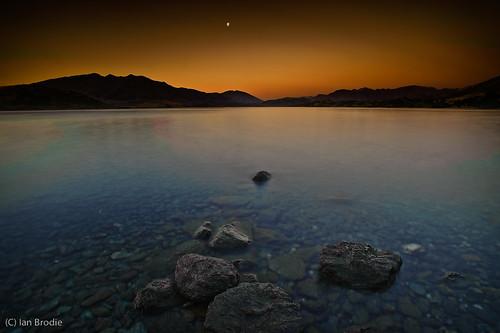 sunset newzealand mountains water scenery wanaka otw glendhubay d700