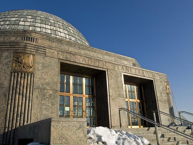 The Adler Planetarium - front entrance