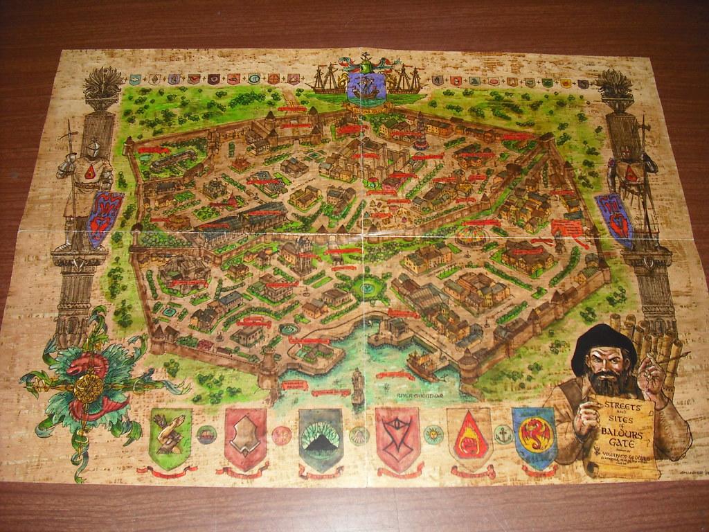 Baldur S Gate Map A Gorgeous Map Of The Town Of Baldur S G