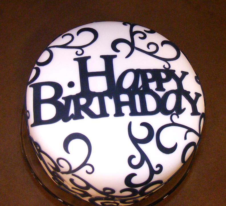 Enjoyable Elegant Birthday Cake Fondant Covered With Gum Paste Desig Flickr Funny Birthday Cards Online Overcheapnameinfo