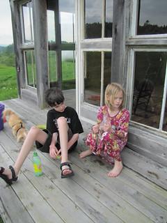 kids having a snack | by Kathryn Cramer