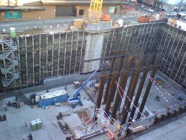 Construction Behind Nordstroms
