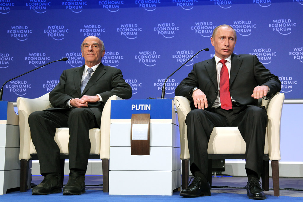 Hans-Rudolf Merz, Vladimir Putin - World Economic Forum Annual Meeting Davos 2009