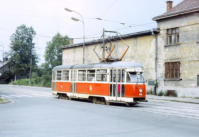 Dnes naposled - posledni jizda Tramvaje T1  Ostrava 1986