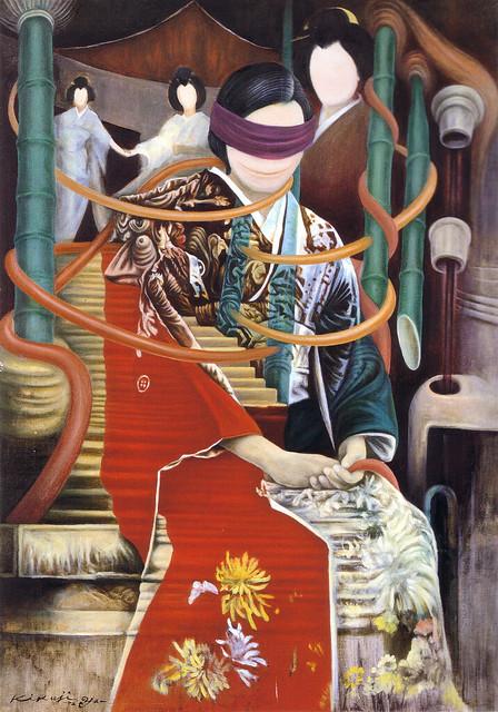 山下菊二「目かくしB」(1973)