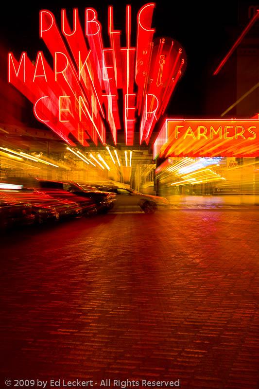 Pike Place Public Market by Night, Seattle, Washington