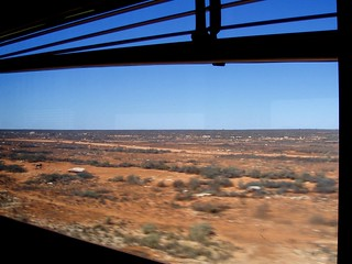 Nullarbor through the window. Indian Pacific Railway. Kalgoorlie - Adelaide. WA - SA. On the WA/SA State Border | by amandabhslater