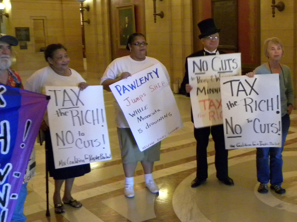 Protest against Governor Pawlenty's legacy of cuts - Flickr