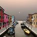 Red sun over Burano, Isola di Burano, Laguna di Venezia, Italia by Gaston Batistini