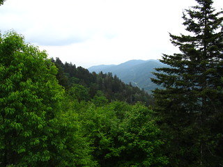 View of Great Smoky Mountains from Crest of Newfound Gap Road, Great Smoky Mountains National Park at North Carolina-Tennessee Border | by Ken Lund