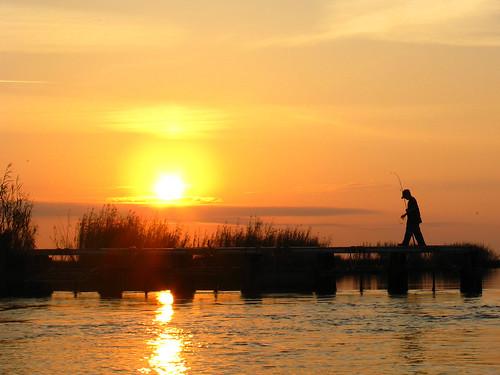 sunset fisherman louisiana