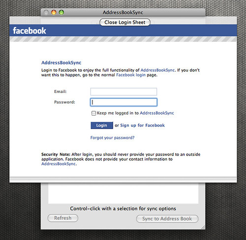 AddressBookSync Facebook Login | Chris Messina | Flickr