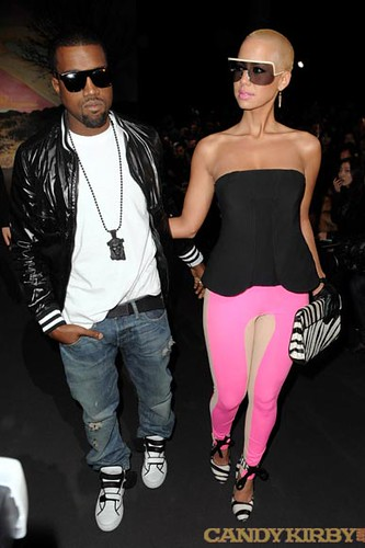 a092fa4dba42 Kanye West and Girlfriend Amber Rose at the Stella McCartney Show at Paris  Fashion Week