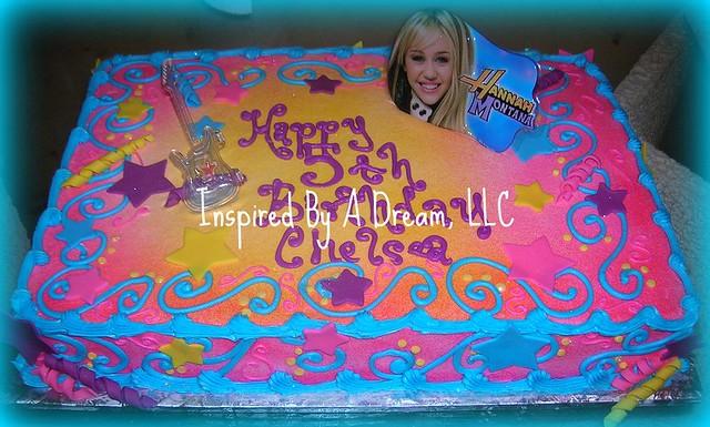 Hannah Montana sheet cake