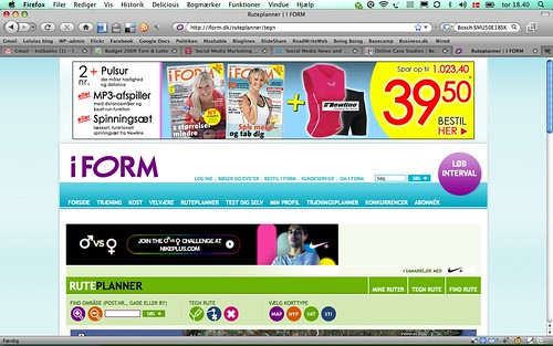 Svært at se indholdet på sitet for reklamer