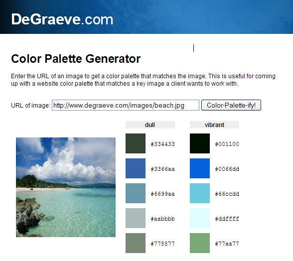 degraeve.com   Color Palette Generator Enter the URL of an i…   Flickr