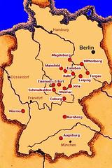Luther Kort Over Tyskland M Byer Henrikbaekgaard Flickr