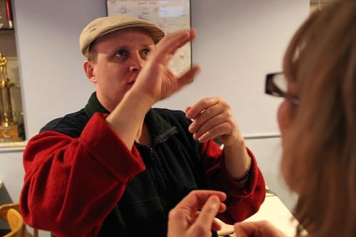 Blind / Deaf Man social chatting | by daveynin