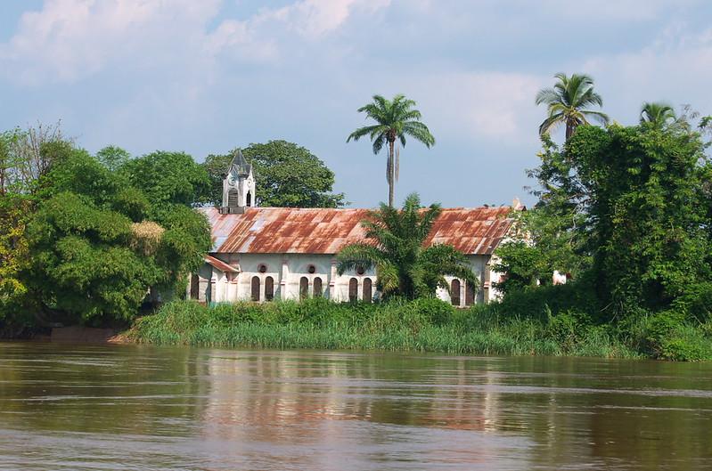 Dima church on the Kasai river