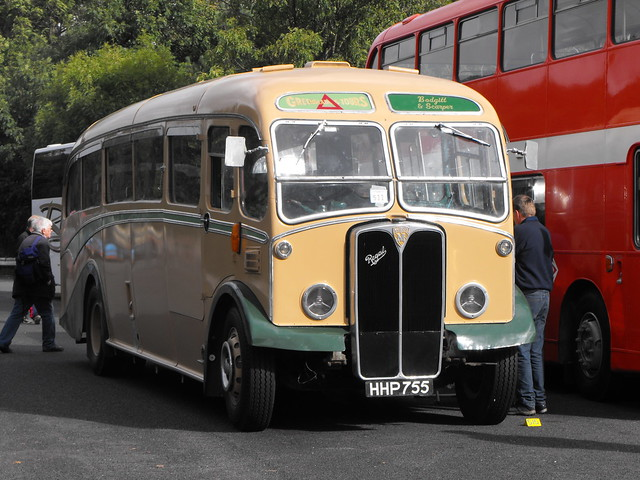HHP 755, AEC Maudslay Regal III, Duple Body (FC33F), 1948