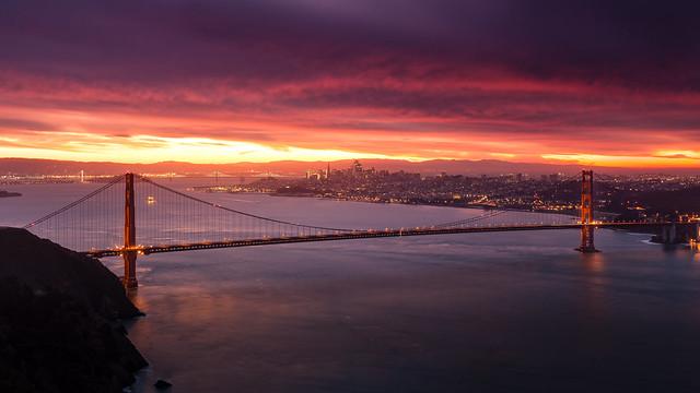 Sunrise at Golden Gate (explored)
